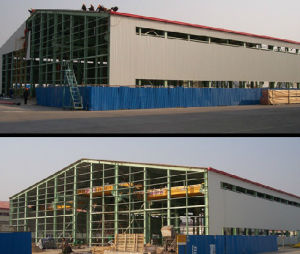 Economic and Fast Q345b Steel Structure Warehouse/ Steel Frame/ Painting pictures & photos