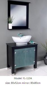 Sanitaryware Bathroom Vanity with Glass Mirror