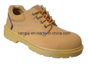 Yellow Nubuck Safety Shoes with Suede Tongue (HQ06006) pictures & photos