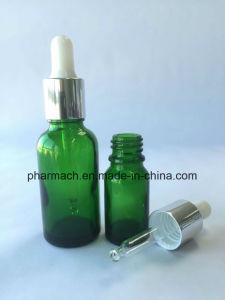 Green Essential Oil Glass Bottle Dropper Pipette White Aluminum Cap pictures & photos