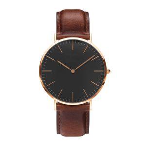 Watches Women Fashion Watch 2016 Rose Gold Casual Quartz Watch Leather Strap Men Watches Relogio Feminino Mas pictures & photos