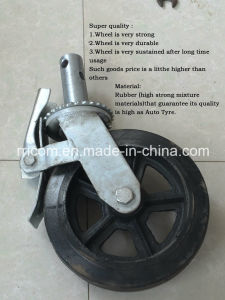Scaffolding Caster Adjustable Locking Caster Wheels with Brake pictures & photos