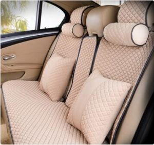 Colorful Car Seat Cover Flat Shapeviscose Fabric-Beige