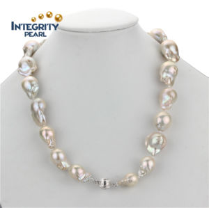 Fashion AA 15mm Large Nucleated Baroque Pearl Necklaces Designs Latest