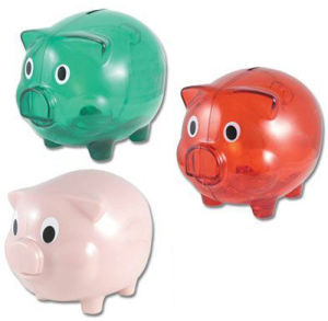 Promotional Plastic Piggy Coin Bank (RF100104)