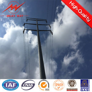 35kv Double Circuit Galvanized Power Pole pictures & photos