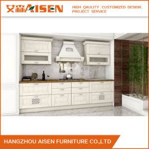 White Furniture Customised Solid Wood Kitchen Cabinet pictures & photos