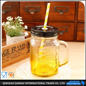 Wholesale Glass Mason Jar Cocktail Shaker Lid pictures & photos
