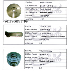 Sinotruck HOWO Shacman Foton Truck Spare Parts Auto Accessory Flywheel pictures & photos
