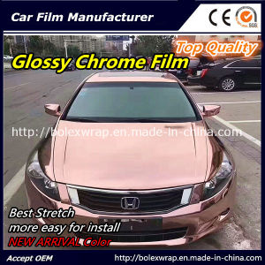 New Arrival Color~~ Top Quality Glossy Mirror Chrome Car Vinyl Wrap Vinyl Film pictures & photos