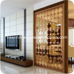 china customed design decorative stainless steel room divider