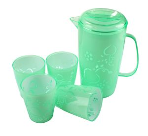 Plastic Water Kettle with Cups (LFR3599) pictures & photos