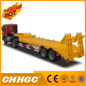 High Quality Carbon Steel 2 Axle Low Bed Truck Trailer pictures & photos