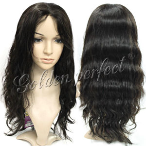 china deep wave brazilian human hair full lace wig for