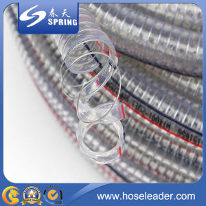 Clear PVC Steel Wire Reinforced Hose pictures & photos