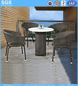 Outdoor Restaurant Furniture Coffee Shop Rattan Chair and Table pictures & photos