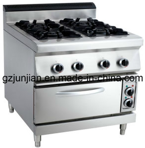 Commercial Gas 4-Burner Range with Electric Oven for Kitchen pictures & photos