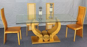 Modern Designed Glass Dining Table