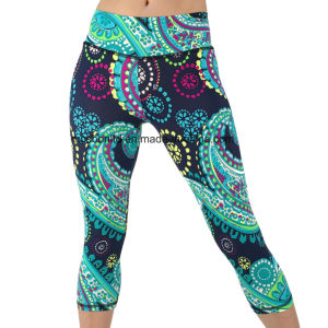 Yoga Capri Pant Leggings for Fitness Gym Wear Workout Clothes Running Pants pictures & photos