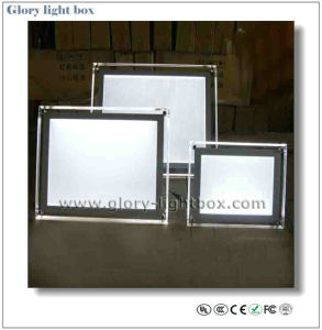 Table Protable LED Crystal L Light Box pictures & photos