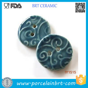 Decorative Deep Blue Ceramic Hand Sewing Buttons pictures & photos