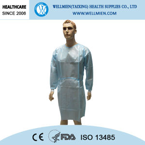 Disposable Nonwoven Polypropylene Gown for Hospital pictures & photos