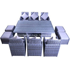 Indoor & Outdoor Rattan Furniture for Garden / Living Room with 6 Seater / SGS (5007) pictures & photos