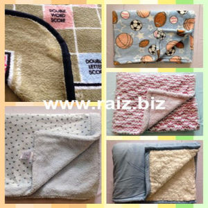 90*73 Cm Bonded Baby Blanket pictures & photos