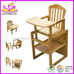 Baby Dining High Chair for Safey Baby, Wooden Toy Baby High Chair, Comfortable Baby Wooden Dining Chair Wj278315 pictures & photos