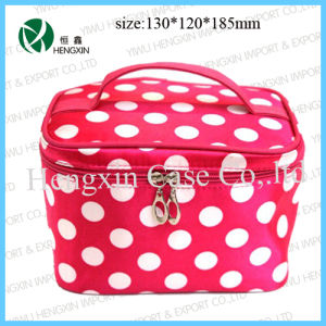 Nylon Makeup Bag Cosmetic Vanity Bag with Mirror pictures & photos