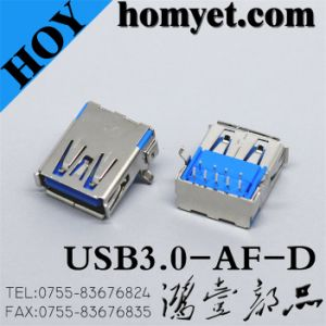 USB 3.0 a Type Female Connector for Computer Products (USB3.0-AF-D) pictures & photos