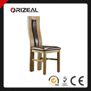 Solid Oak and Leather Curved Back Dining Chair (OZ-SW-010) pictures & photos