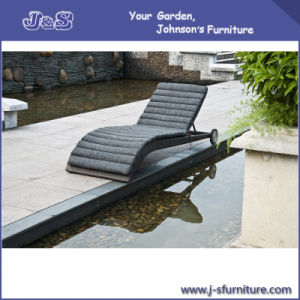 Outdoor Wicker Patio Furniture ,Brown Rattan Pool Sun Chaise Lounge Chair (J4265) pictures & photos