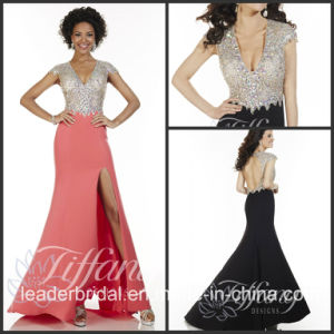 Fashion Vestidos Prom Party Gown Beading Slit Evening Dresses (LD11551) pictures & photos