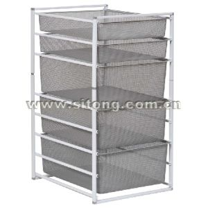 Free Standing Powder Coated Wire Mesh Drawer Laundry Trolley (ML-01) pictures & photos