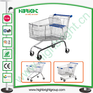 Super Market Wholesale Steel Shopping Trolley Cart pictures & photos