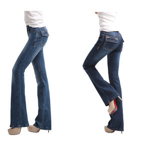 Women′s Straight Leg Denim Jeans Pants Made in China 2015