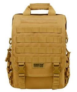 "Seibertron Waterproof Molle Tactical 14"" (inch) Laptop Sling Bag Backpack --Tan, Black"