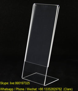 "Cheap Plastic Acrylic 2"" X 6"" Photo Display Shelf Stand pictures & photos"