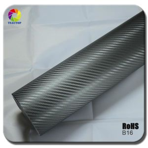 Tsautop 3D Carbon Fiber Vinyl for Car Wrapping& Greyb16 pictures & photos