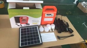 4 LED Bulbs Solar Power Lighting System with FM Radio and Music Player pictures & photos