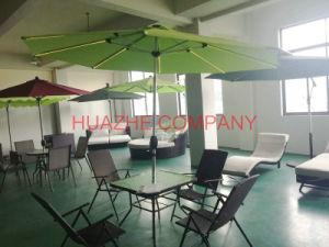 Solar Garden Umbrella Outdoor Umbrella Parasol with LED Light Umbrella (Hz-S73) pictures & photos