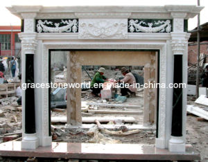 Marble Fireplace Mantel with Small Column pictures & photos