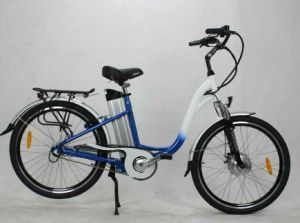 Aluminium Brushed and Double Color Electric Lady Bike pictures & photos