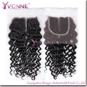 Brazilian Wavy Middle Parting Lace Top Closure pictures & photos