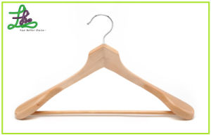 New Style Wooden Coat Hanger with Wider Shoulder (LH034)