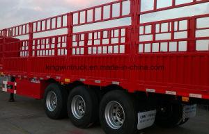 China Brand Three-Axle High Wall Flatbed Trailer