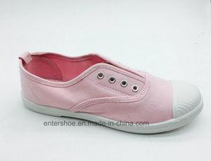 Red Color Canvas Kids Shoes Without Shoelace (ET-AL160252K) pictures & photos