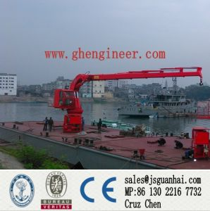 Knuckle Telescopic Boom Marine Crane 5t20m pictures & photos