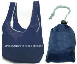 Foldable Shopping Bag with Drawstring Pouch pictures & photos